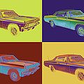 1965 Chevy Impala 327 Convertible Pop Art by Keith Webber Jr