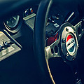 1965 Ford Gt 40 Steering Wheel Emblem by Jill Reger