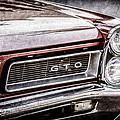 1965 Pontiac Gto Grille Emblem -0442ac by Jill Reger