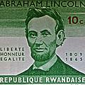 1965 Rwanda Abraham Lincoln Stamp by Bill Owen