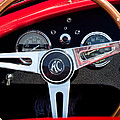 1965 Shelby Ac Cobra Roadster 289 Steering Wheel Emblem by Jill Reger