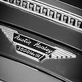 1966 Austin-healey 3000 Mk IIi Bj8 Emblem -1075bw by Jill Reger