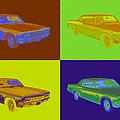 1966 Chevrolet Caprice 427 Muscle Car Pop Art by Keith Webber Jr