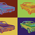 1966 Chevy Chevelle Ss 396 Car Pop Art by Keith Webber Jr