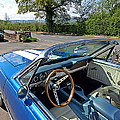 1966 Convertible Mustang On Tour In The Cotswolds by Gill Billington