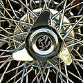 1966 Ferrari 330 Gtc Coupe Wheel Rim Emblem by Jill Reger