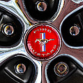1966 Ford Mustang Gt Wheel Emblem by Jill Reger