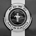 1966 Ford Mustang Shelby Gt 350 Emblem Gas Cap -0295bw by Jill Reger
