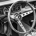 1966 Mustang Dashboard Bw by Jerry Fornarotto