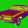 1966 Pointiac Lemans Car Pop Art by Keith Webber Jr