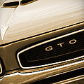 1966 Pontiac Gto In Sepia by Gordon Dean II