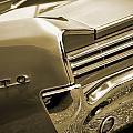 1966 Pontiac Gto Tail In Sepia by Gordon Dean II