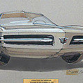 1967 Barracuda  Plymouth Vintage Styling Design Concept Rendering Sketch Fred Schimmel by ArtFindsUSA