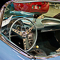 1967 Blue Corvette-interior And Wheel by Eti Reid