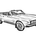 1967 Convertible Camaro Car Illustration by Keith Webber Jr