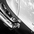 1967 Ferrari 330 Gts Taillight Emblem -0406bw by Jill Reger