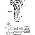 1967 Nasa Astronaut Ventilated Space Suit Patent Art 3 by Nishanth Gopinathan