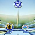 1967 Volkswagen Vw Karmann Ghia Hood Emblem by Jill Reger