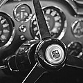 1968 Aston Martin Steering Wheel Emblem by Jill Reger