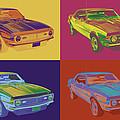 1968 Chevrolet Camaro 327 Muscle Car Pop Art by Keith Webber Jr