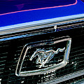 1968 Ford Mustang Cobra Gt 350 Grille Emblem by Jill Reger