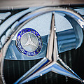 1968 Mercedes-benz 280 Sl Roadster Emblem -0919c by Jill Reger