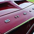 1968 Shelby Gt350 Hood Emblem by Jill Reger