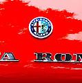 1969 Alfa Romeo Spider Veloce Iniezione Emblem by Jill Reger