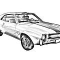 1969 Amc Javlin Car Illustration by Keith Webber Jr