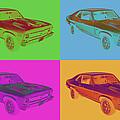 1969 Chevrolet Nova Yenko 427 Muscle Car Pop Art by Keith Webber Jr