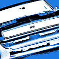 1969 Chevy Camaro Ss - Blue Negative by Gordon Dean II