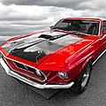 1969 Red 428 Mach 1 Cobra Jet Mustang by Gill Billington