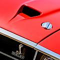 1969 Shelby Gt500 Convertible 428 Cobra Jet Hood - Grille Emblem by Jill Reger