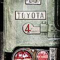 1969 Toyota Fj-40 Land Cruiser Taillight Emblem -0417ac by Jill Reger
