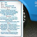 1970 Boss 429 Fact Placard by Hugh Carino