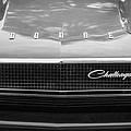 1970 Dodge Challenger Rt Convertible Grille Emblem -0545bw by Jill Reger