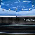 1970 Dodge Challenger Rt Convertible Grille Emblem -0545c by Jill Reger
