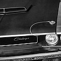 1970 Dodge Challenger T/a In Black And White by Gordon Dean II