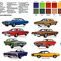 1970 Dodge Coronet Models And Colors by Digital Repro Depot