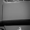 1970 Ferrari 365 Gtb-4 Daytona Berlinetta Taillight Emblem -1482bw by Jill Reger