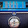 1970 Ford Mustang Gt Mach 1 Emblem by Jill Reger