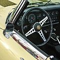 1970 Jaguar Xk Type-e Steering Wheel by Jill Reger