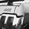 1970 Olds 442 Black And White by Gordon Dean II