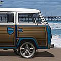 1970 Vw Bus Woody by Mike McGlothlen