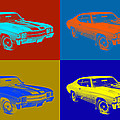 1971 Chevrolet Chevelle Ss Pop Art by Keith Webber Jr