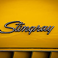 1971 Chevrolet Corvette Stingray Emblem by David Patterson