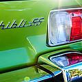 1971 Maserati Ghibli 4.9 Ss Spyder Taillight Emblem -0187c by Jill Reger
