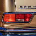 1971 Mercedes-benz 280se 3.5 Cabriolet Taillight Emblem by Jill Reger