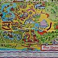 1971 Original Map Of The Magic Kingdom by Rob Hans