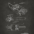 1972 Chris Craft Boat Patent Artwork - Gray by Nikki Marie Smith